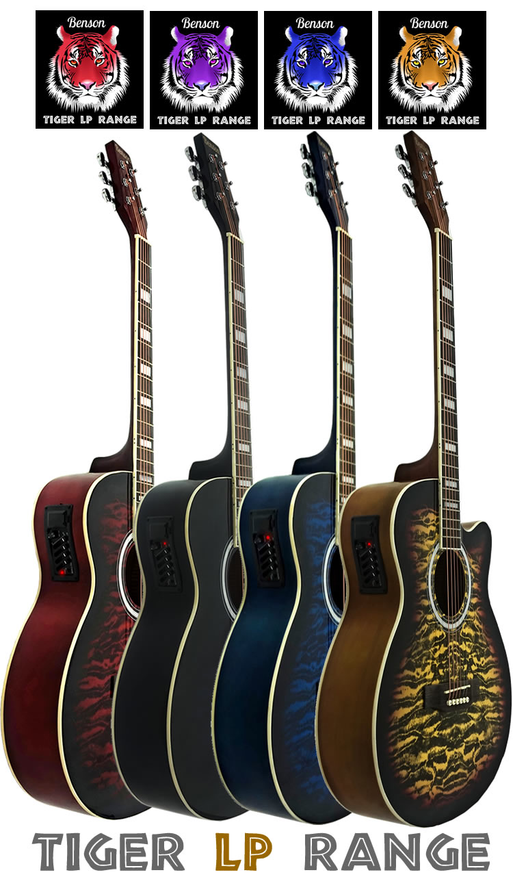 brand new full size benson hollow body semi acoustic electric guitar package ebay. Black Bedroom Furniture Sets. Home Design Ideas